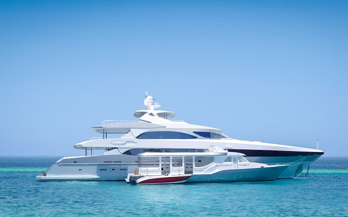 Azalea luxury surf charter aerial lateral